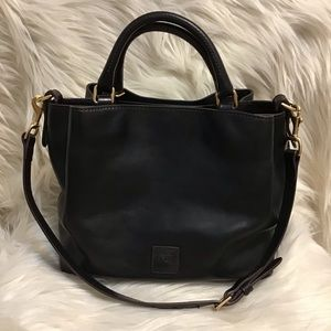 Dooney Black Florentine Small Brenna Satchel